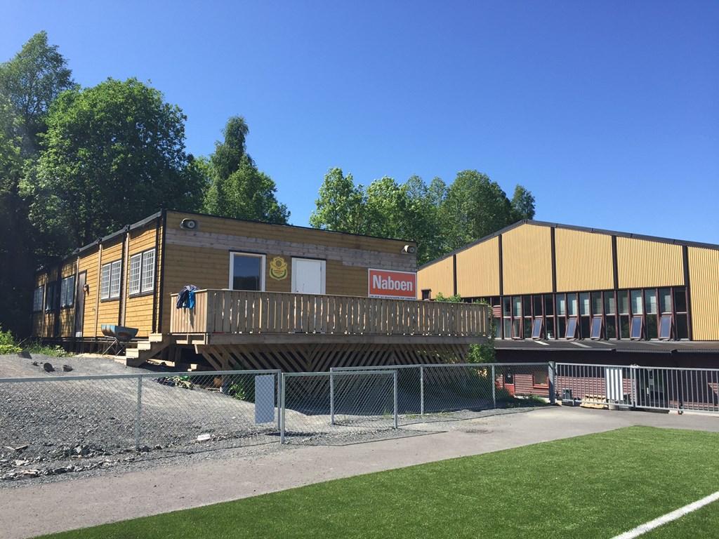 Kiosken i Lommedalen Idrettspark