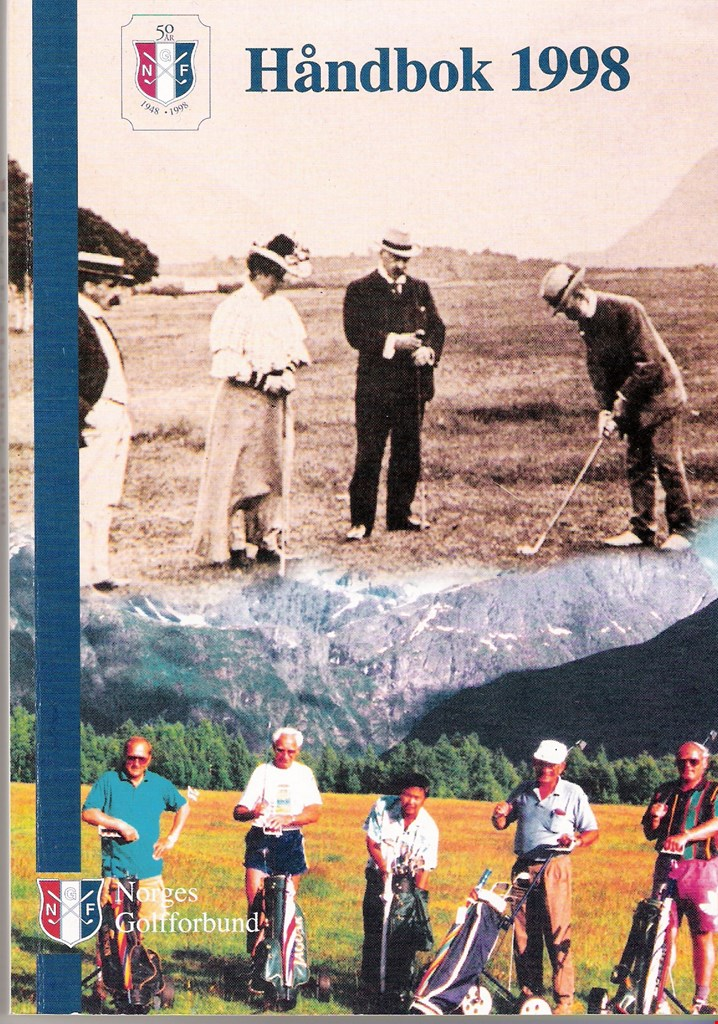 1905 og 1997. De fem karene som stiftet Rauma Golfklubb, ser du nederst.