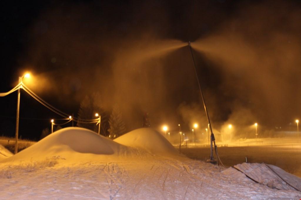 Kapasiteten til snøproduksjon på Steinkjer skistadion er god, bare det blir kaldt nok.
