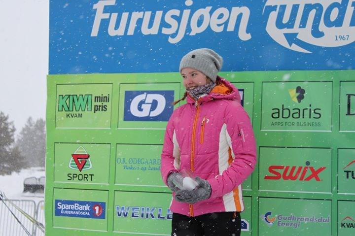 Klassevinner K16T: Lotte Sølvsberg Noren, Hamar Skiklubb (arrangørfoto).