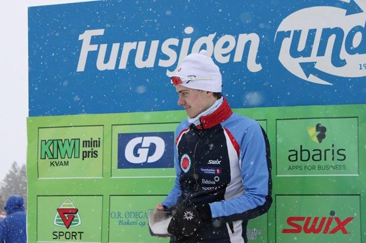 Klassevinner M18T: Ivar Jevne Arnesen, Hamar Skiklubb (arrangørfoto).