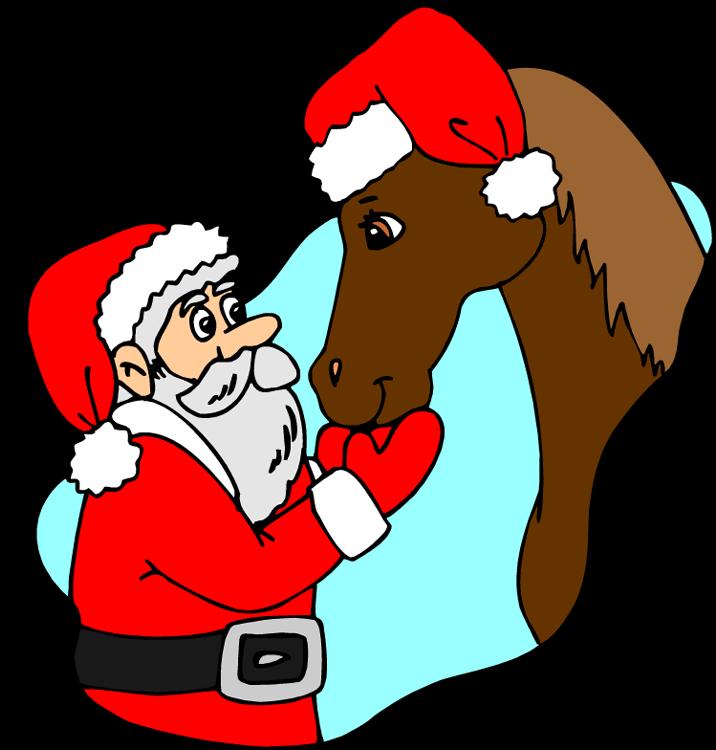 Bilderesultat for santa horse clipart