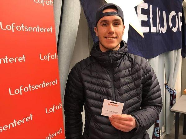 Fornøyd vinner Ruben Benonisen