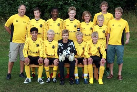 Lagbilde av G-14 laget som var på Norway Cup i august 2010