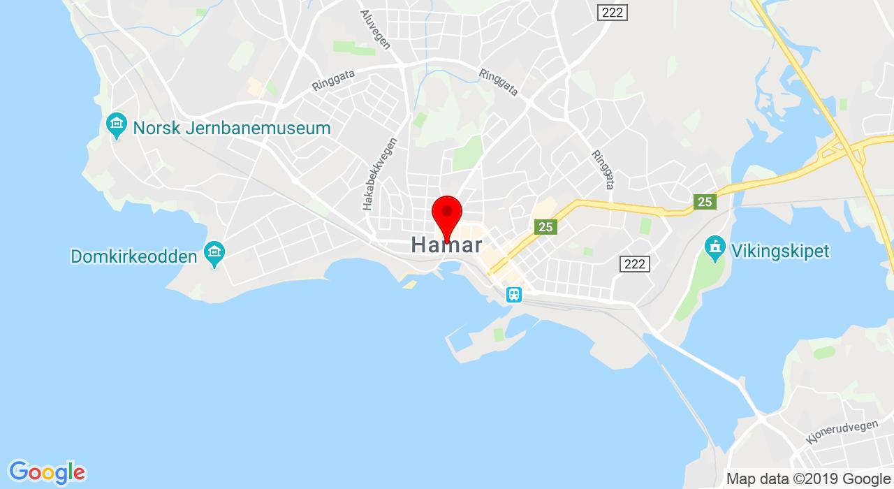 Hamar, Lillehammer, Kongsvinger, Gjøvik,