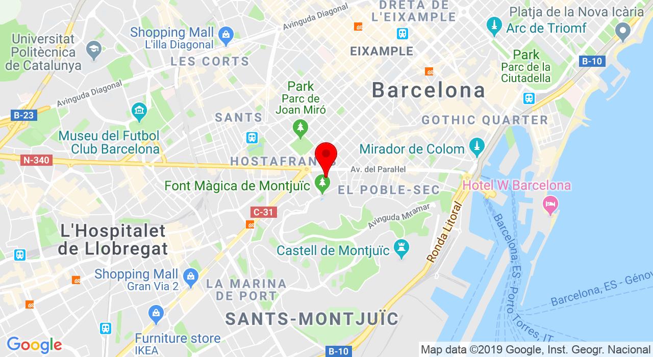 Fira Montjuïc Avinguda Rius i Taulet, s/n, 08004 Barcelona