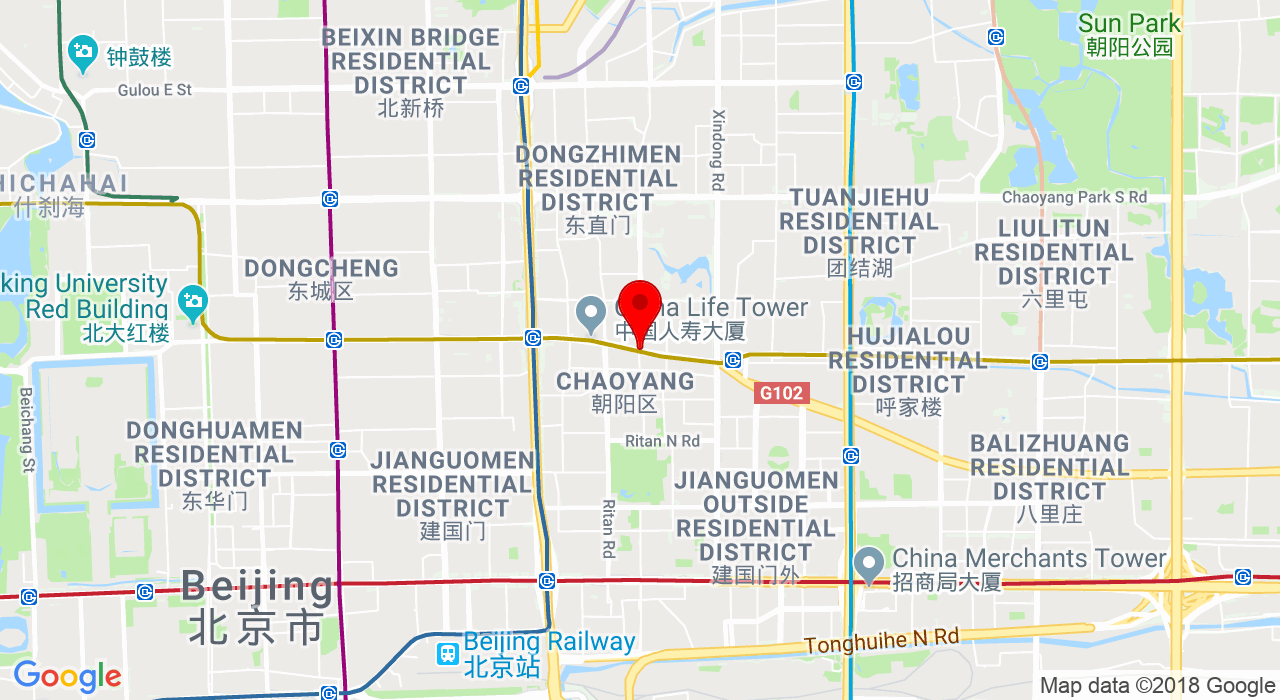 Chaoyangmen Outer St beijing 北京朝外大街,