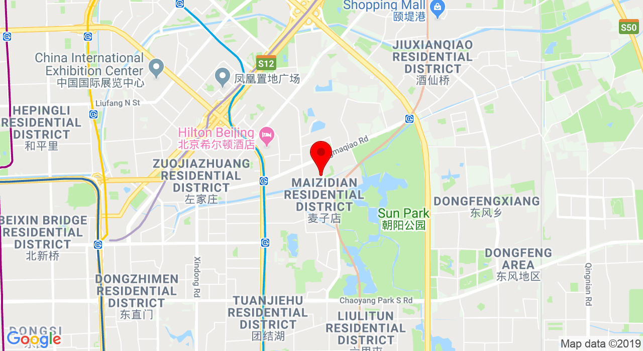 1-7 lucky street NO 1 Chaoyang Park Rd beijing 北京朝阳公园路1号 好运街 1-7,