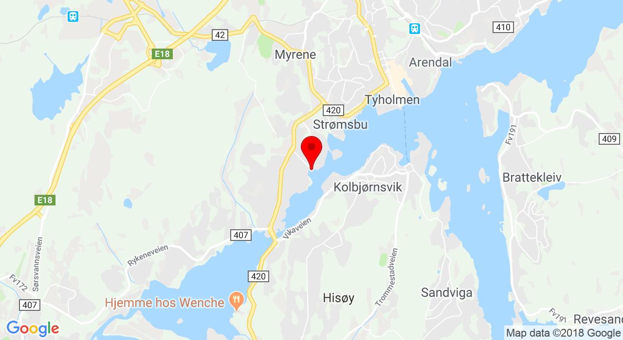 Arendal kajakklubb, Hansnesveien 27A, 4839 ARENDAL