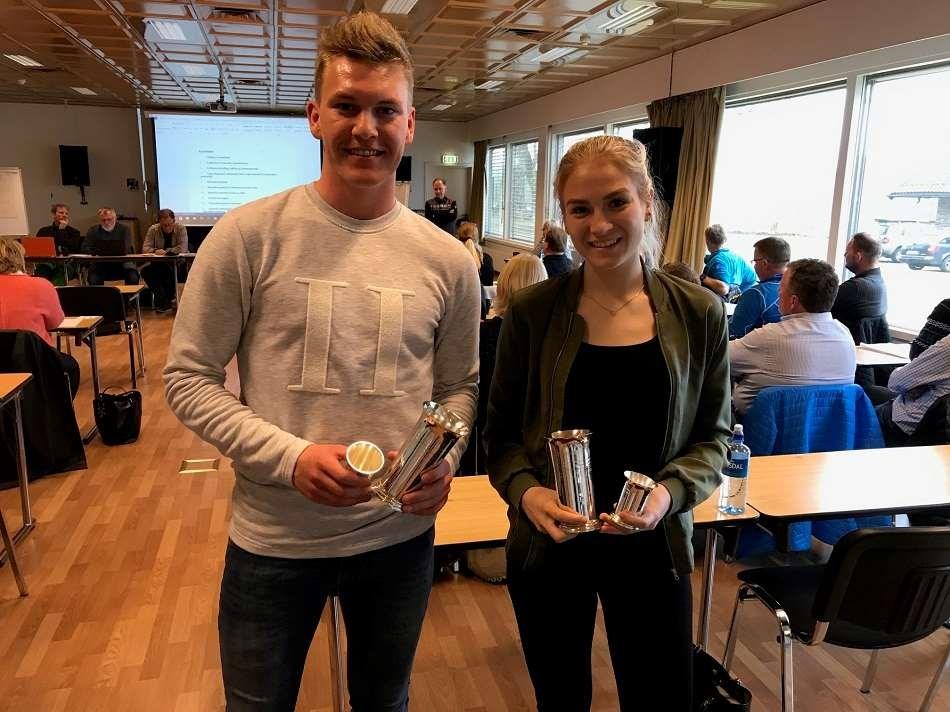 Bendik og Line tildelt NSFs jubileumspokal