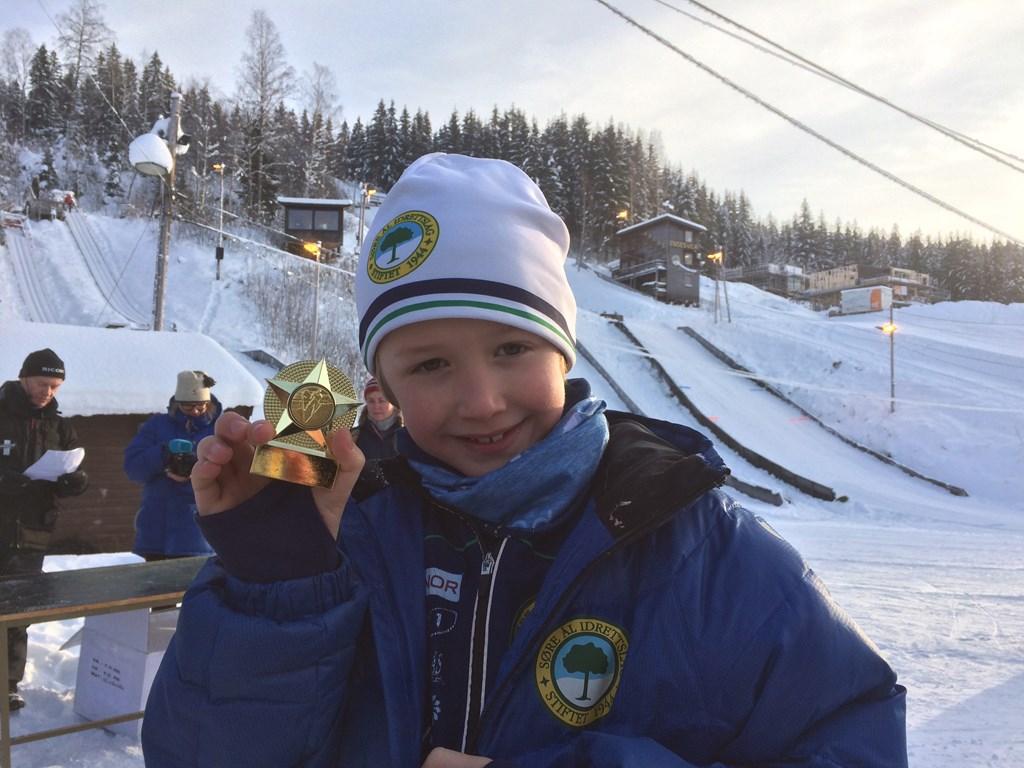 Lavrans stilte på Søre ÅL-lekene i 2017, på både hopp og kombinert