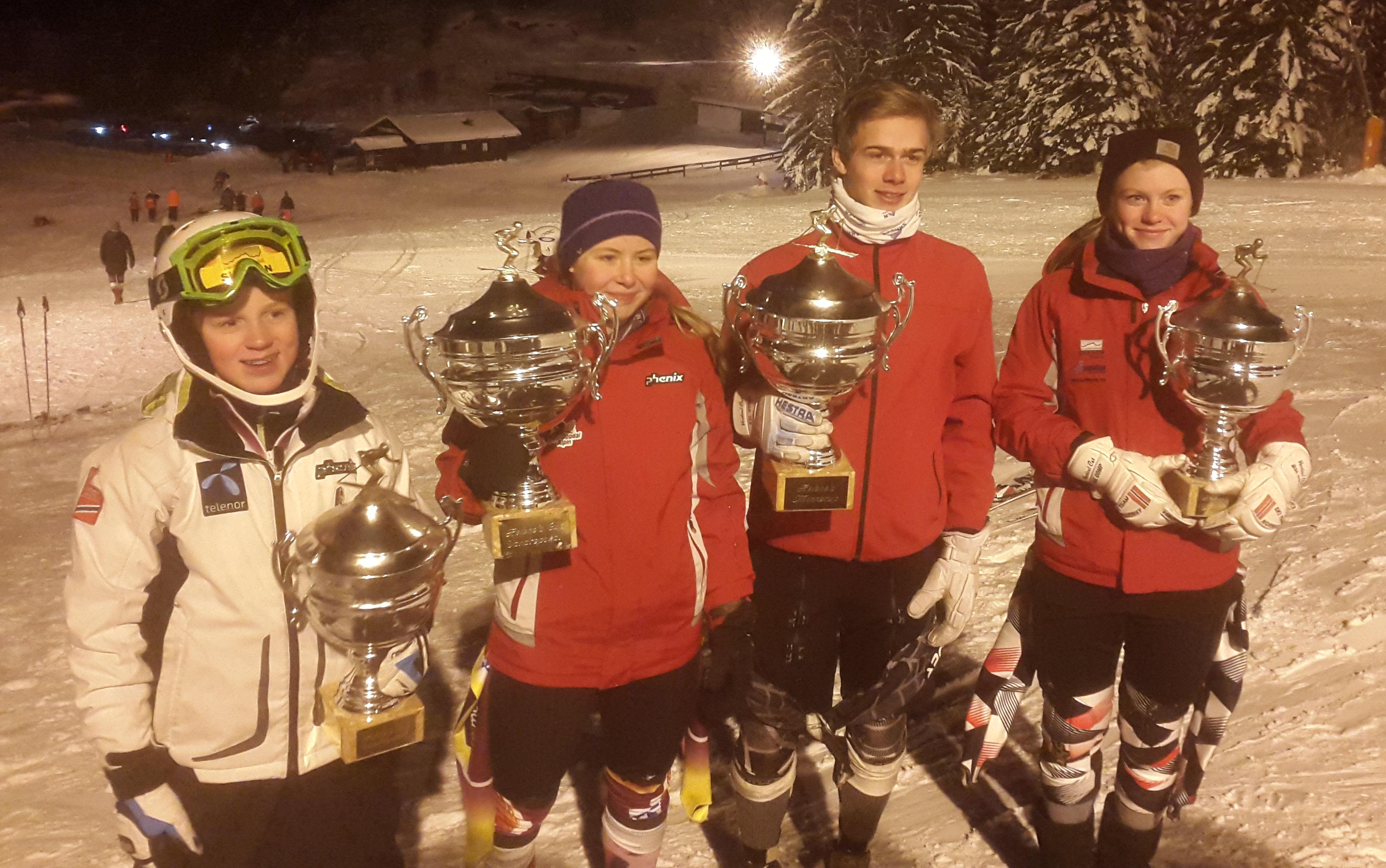 Fjorårets vinner av Helenes vandrepokal i U14 og U16