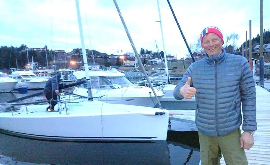 Lars Kåre Valla er veldig fornøyd med at det blir flere Melges 24 til årets sesong