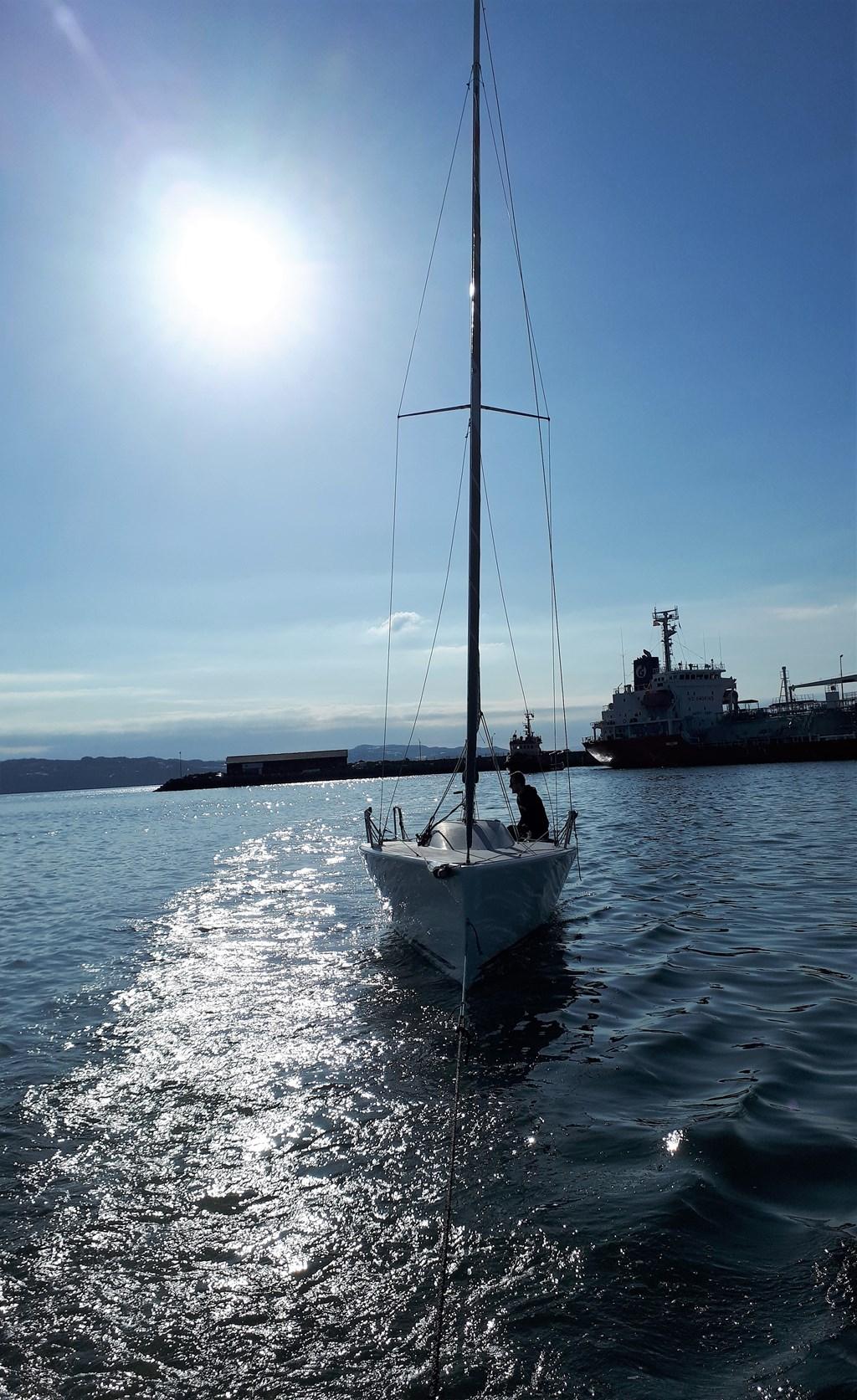 Endelig på sjøen