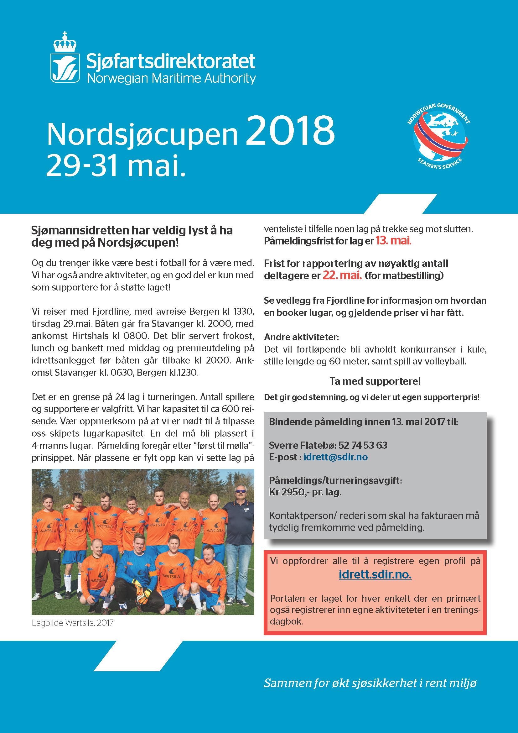 Invitasjon Nordsjøcupen 2018