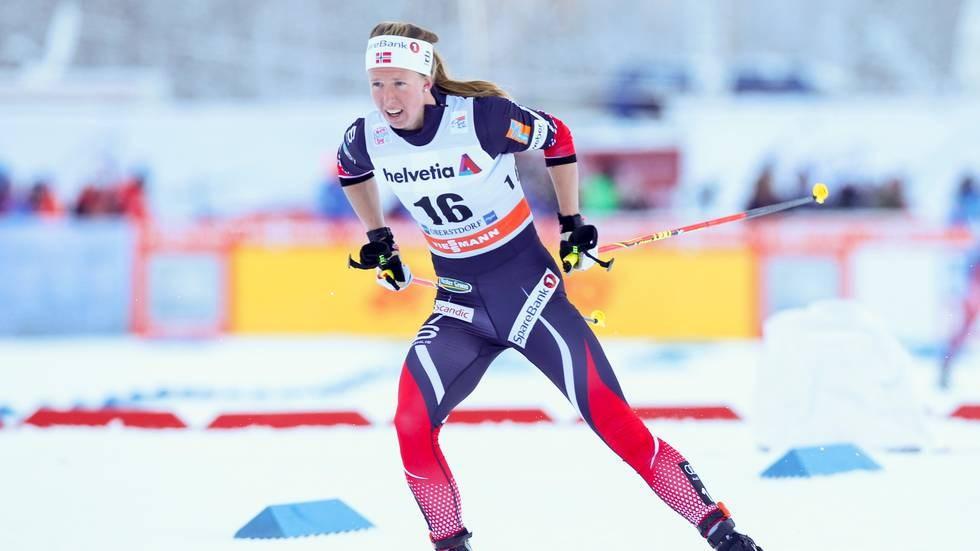 Tour de Ski. 3 etappe. 10 km skiathlon kvinner. Silje Øyre Slind under sitt løp. (Foto: Terje Pedersen / NTB scanpix)