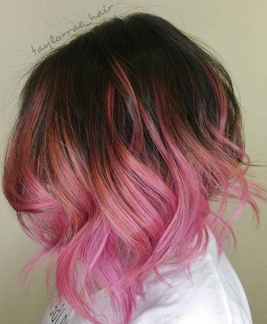 Image result for balayage with color
