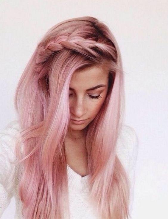 Rose Gold Haarfarbe Ideen