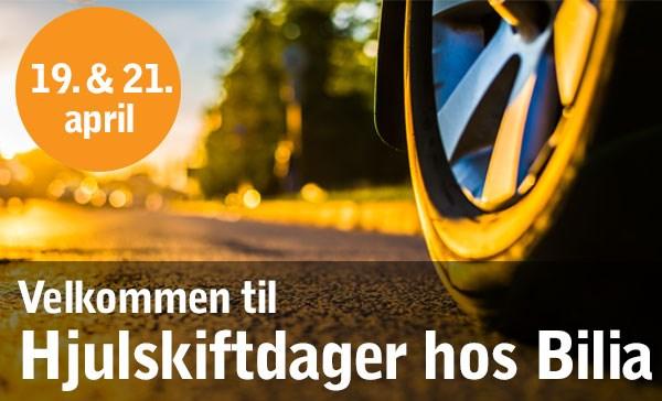 Hjulskiftdager hos Bilia Hamar 19. og 21. april