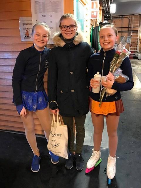 Sunniva, Kari Sofie og Ingeborg i Fredrikstad mars 2017
