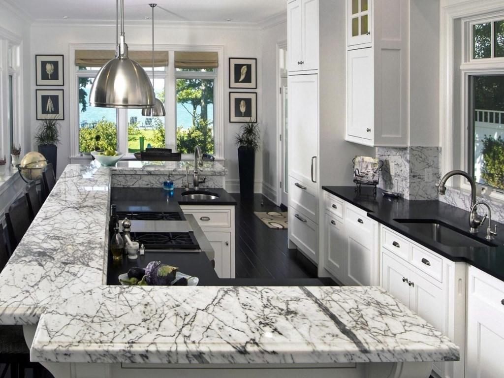 Marble kitchen worktops countertops