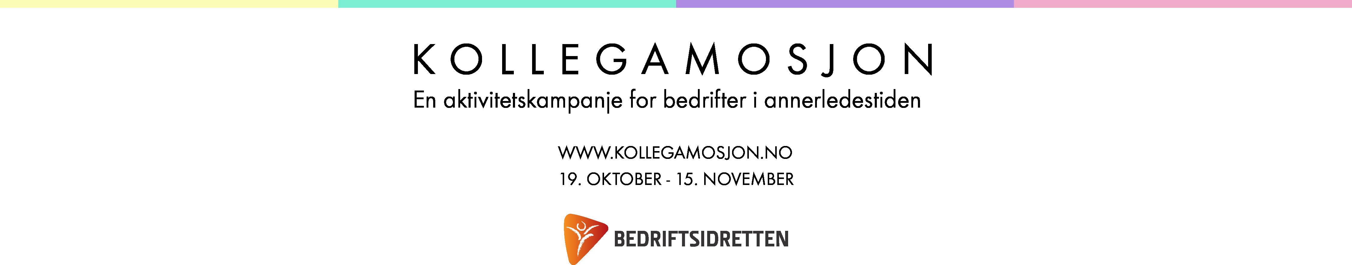 KOLLEGAMSJON: En aktivitetskampanje for bedrifter i annerledestiden. 19. Oktober - 15. November. Laget av Bedriftsidretten.