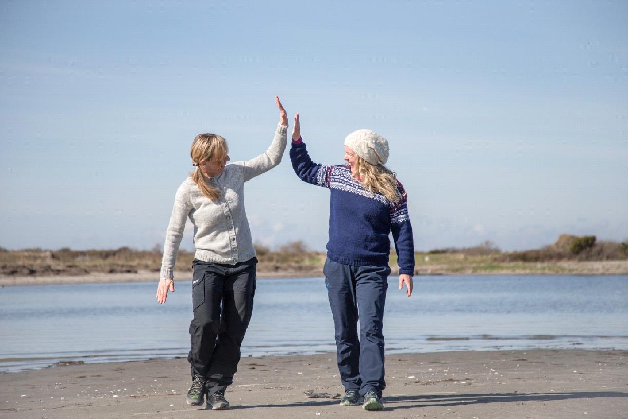 To personer på strand